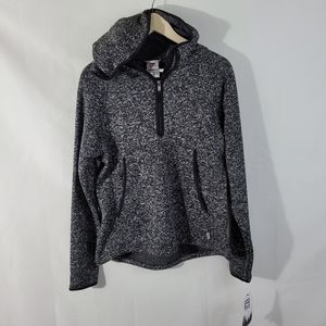 NWT AVALANCHE Burnt-Out Gray 1/4 Zip Hoody Sweater